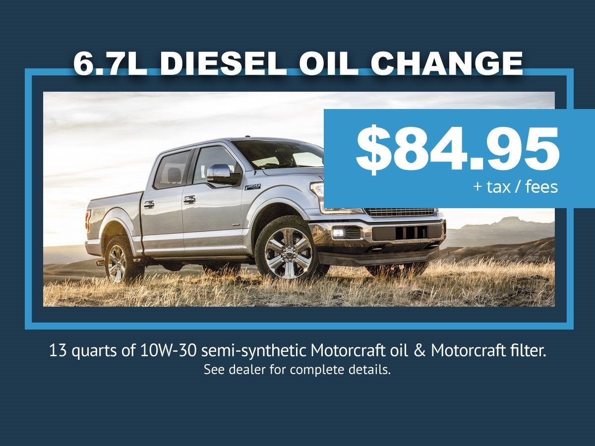 Ford Diesel Oil Change Rapid City, SD | McKie Ford